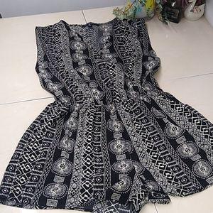 🔴 One Clothing Black And White Shorts Jumpsuit